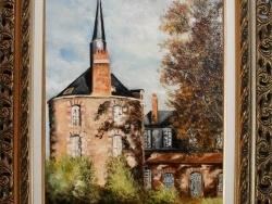 Photo dessins et illustrations, Bellegarde - La capitainerie de Bellegarde (loiret) peinte par Gérard VICTOIRE