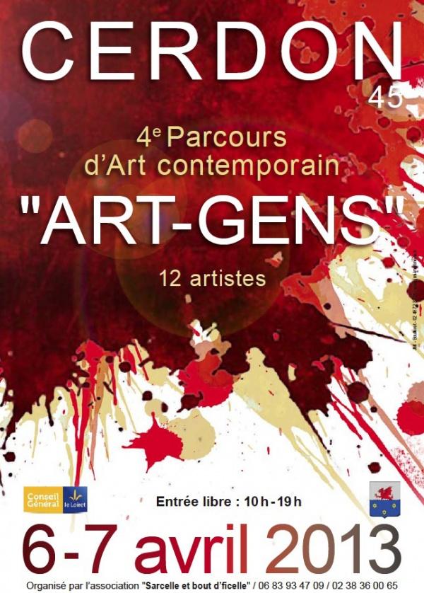 4 ème Parcours d'Art  Contemporain ART GENS à Cerdon du Loiret les 6 et 7 avril 2013