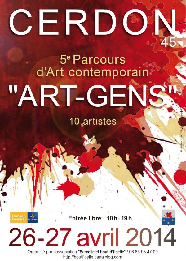 5ème parcours d'art contemporain ART-GENS, l'art chez les gens.