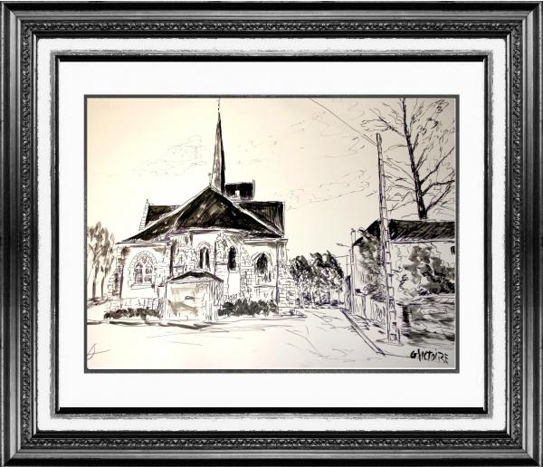 Photo Ladon - Encre de Gérard victoire artiste peintre à Ladon