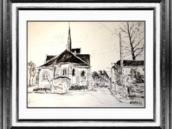 Photo dessins et illustrations, Ladon - Encre de Gérard victoire artiste peintre à Ladon