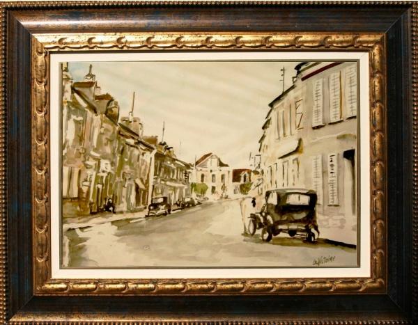 Photo Ladon - Aquarelle de Gérard victoire artiste peintre à Ladon