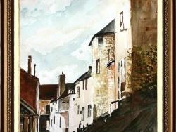 Photo dessins et illustrations, Montargis - La petite Venise à MONTARGIS aquarelle réalisée par Gérard VICTOIRE artiste peintre à LADON