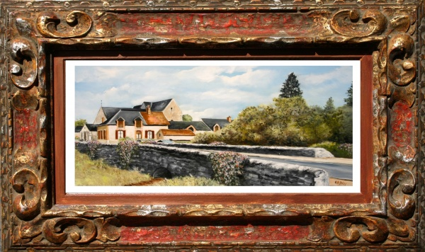 Photo Quiers-sur-Bézonde - huile de Gérard victoire artiste peintre à Ladon