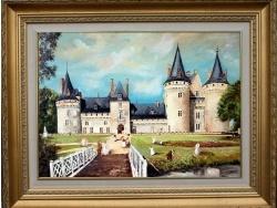 Photo dessins et illustrations, Sully-sur-Loire - Tableau du CHATEAU de Sully réalisé par Gérard VICTOIRE