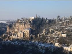 Photo paysage et monuments, Rocamadour - Rocamadour un jour de neige janvier 2013