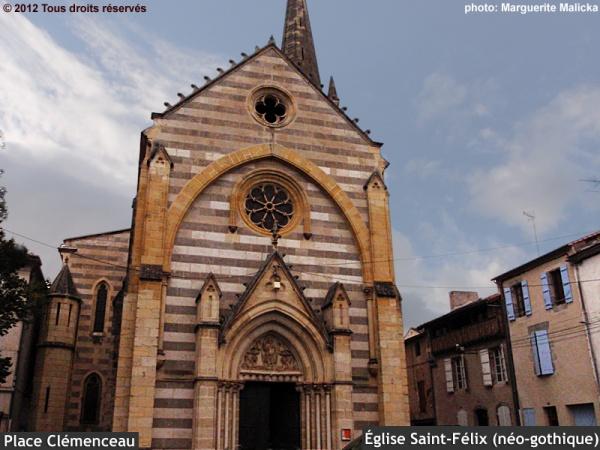 Photo Aiguillon - Église paroissiale Saint-Félix située place Clémenceau