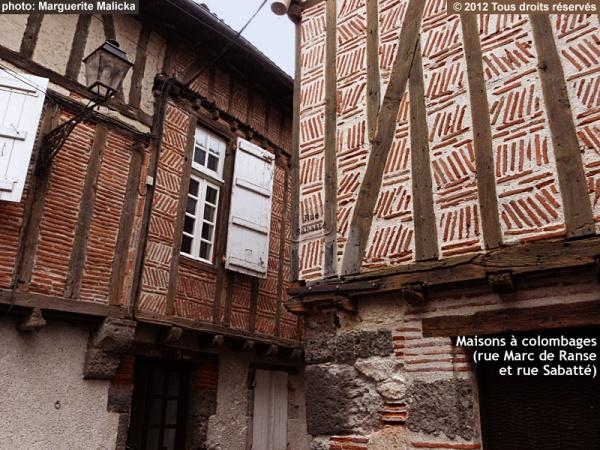 Photo Aiguillon - Maisons à colombages