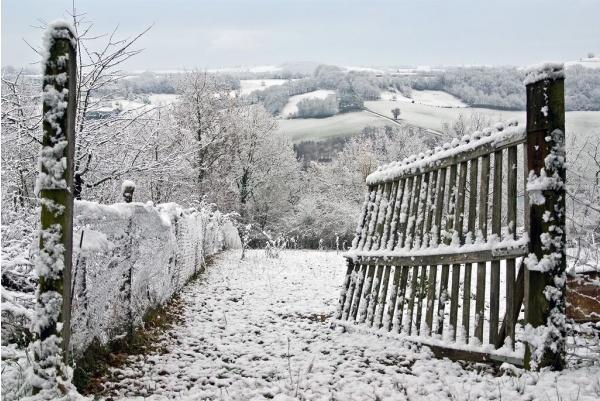 Photo Bajamont - La barriére est ouverte, la neige est entrée.