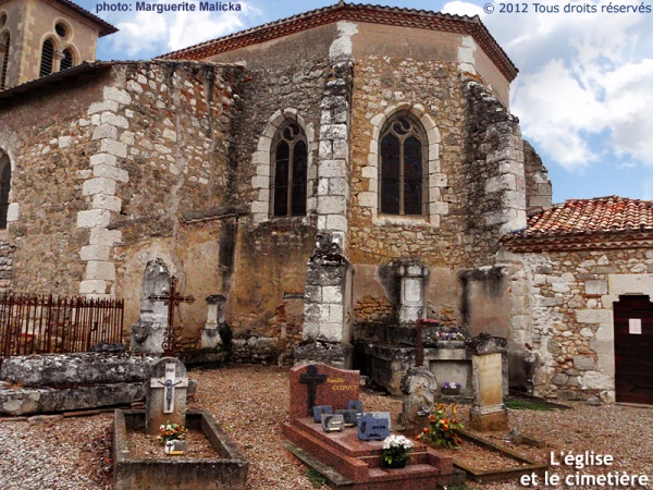 L'église paroissiale Saint-Pierre à Bourran
