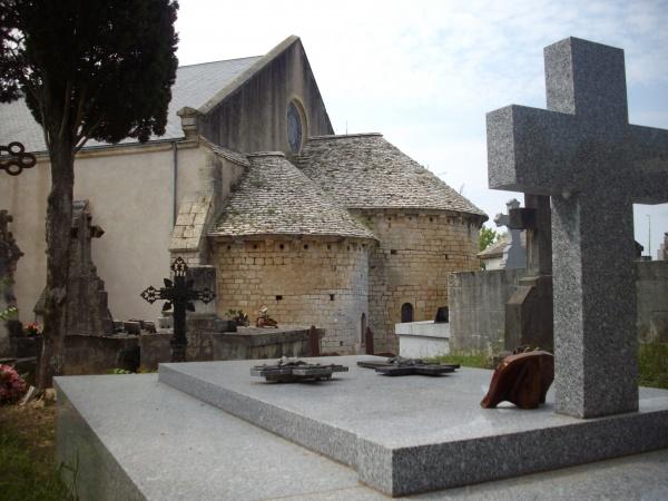 Photo Cuzorn - le chevet de l'église Saint-Martin