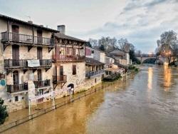 Photo paysage et monuments, Nérac - Nérac, la rivière Baïse en hiver.