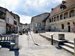 Photo paysage et monuments, Nérac - La rue Henry IV et le château