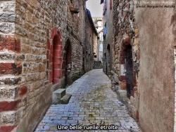 Photo paysage et monuments, La Canourgue - Une très belle ruelle étroite, pavée de vieilles briques en pierre.
