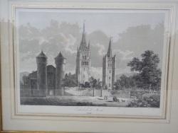 Photo dessins et illustrations, Mende - Gravure XVIIIème (?) de la cathédrale de Mende