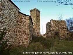 Photo paysage et monuments, Prévenchères - Tour de guet (donjon) et les vestiges du château fort.