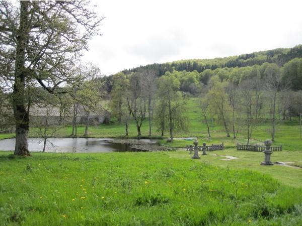 Château de la Baume, les jardins du château