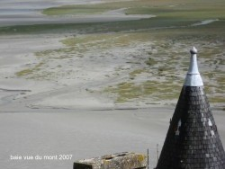 Photo paysage et monuments, Le Mont-Saint-Michel - la baie vue du mont