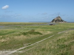 Photo paysage et monuments, Le Mont-Saint-Michel - approche du mont