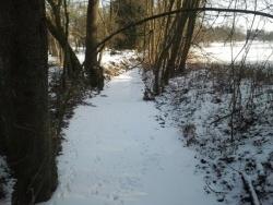 Photo paysage et monuments, Coume - Le ruisseau sous la glace