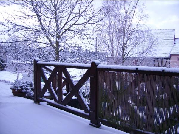 l'hiver sur la terrasse