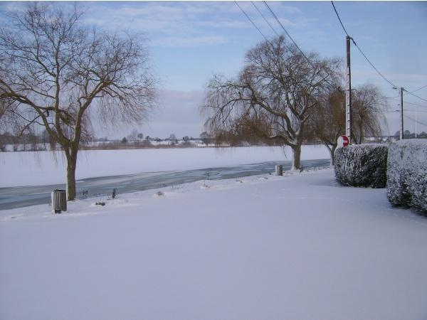 Photo Mittersheim - l'étang sous la neige