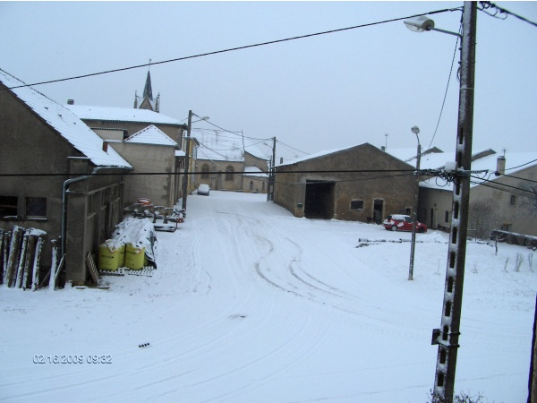 Photo Thimonville - rue plein de neige en 2008