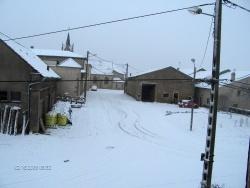 Photo paysage et monuments, Thimonville - rue plein de neige en 2008
