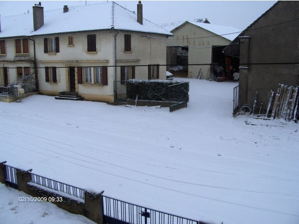 Photo Thimonville - LE 16/02/2009 la neige était au rendez vous