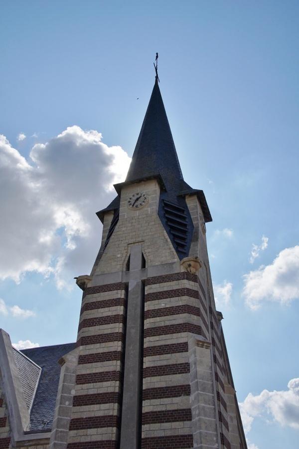 Photo Beaulieu-les-Fontaines - le clocher église Notre Dame