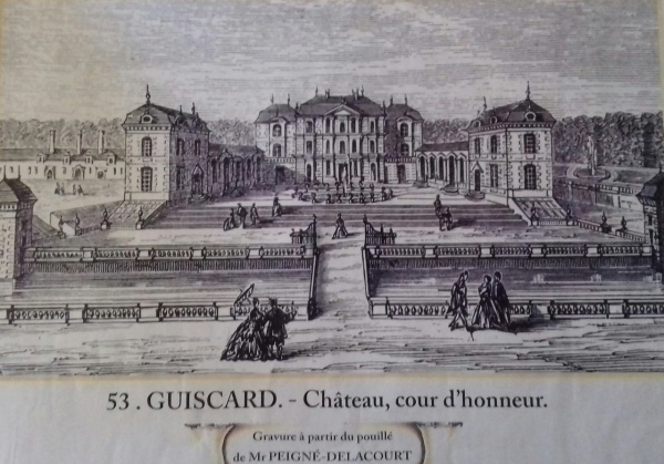 Photo Guiscard - Chateau de Guiscard au siecle dernier