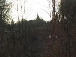 Photo paysage et monuments, Montchevrel - L'église vue de l'oseraie