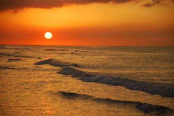 Photo Oye-Plage - coucher de soleil