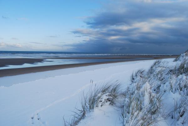 Photo Oye-Plage - la plage sous la neige