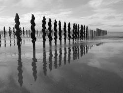 Photo paysage et monuments, Oye-Plage - noir et blanc