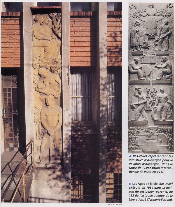 Bas-relief de la façade de la villa LISE