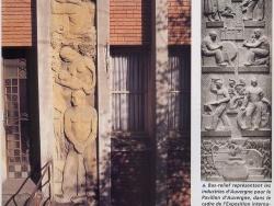 Photo paysage et monuments, Clermont-Ferrand - Bas-relief de la façade de la villa LISE