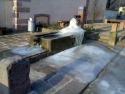 Photo paysage et monuments, Kintzheim - fontaine gelée