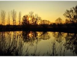Photo paysage et monuments, Munchhausen - Reflets du soir au Delta de la Sauer à Munchhausen