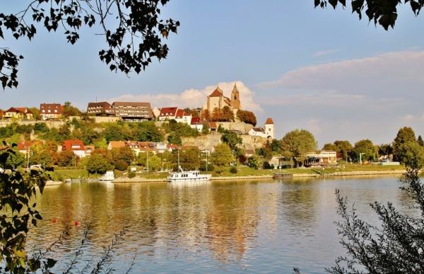 Photo Vogelgrun - Vue sur Vieux-Brisach ( Allemagne )