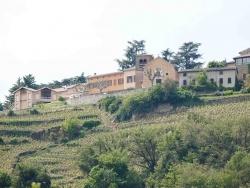 Photo paysage et monuments, Tupin-et-Semons - le bourg vue de l'île de la chèvre