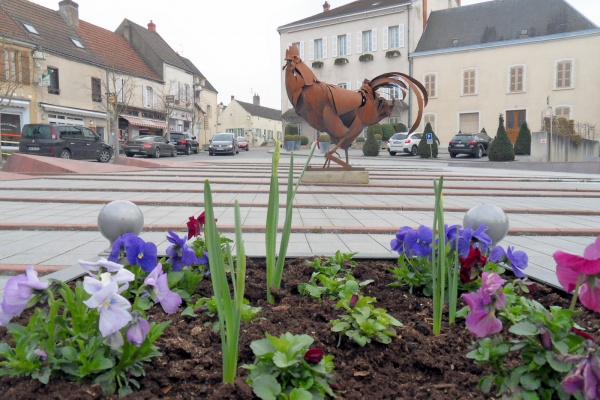Photo Chagny - Chagny.71.Place d'armes