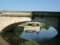 Photo paysage et monuments, La Flèche - Reflet sur le Loir