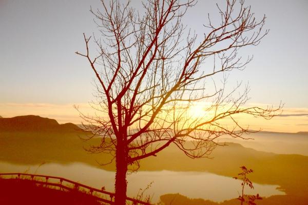 Le lac du Bourget depuis le chalet du Sapeney