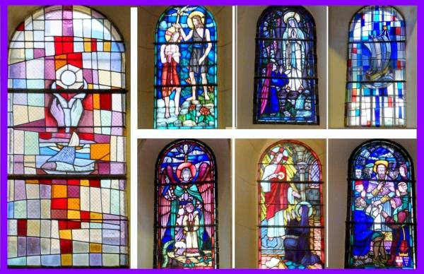 Photo Yvoire - Yvoire-74.Vitraux de l'église Saint-Pancrace.
