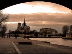 Photo paysage et monuments, Paris - sous les ponts de paris