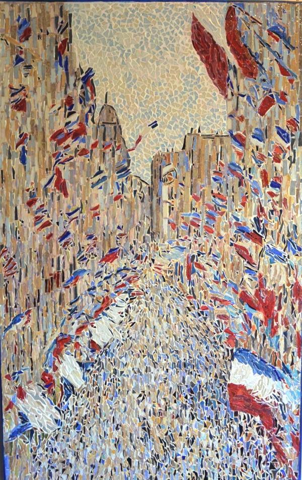 Paris - La rue Montorgueil mosaïque en émaux de Briare,influence Claude Monet.
