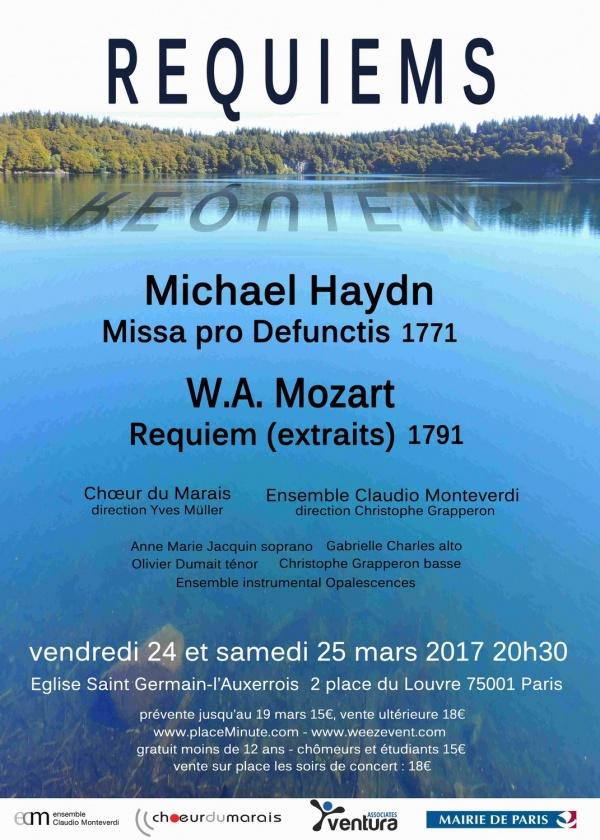 Concert requiems en Miroir: mars 2017, Paris