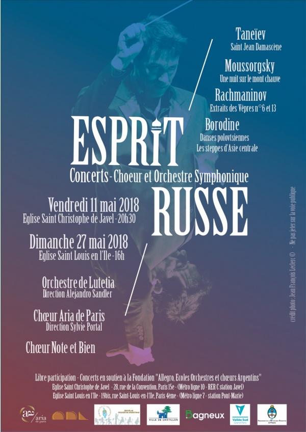 Affiche concert Esprit Russe