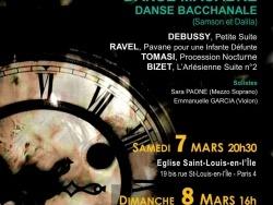 Orchestre de Lutetia: Saint-Saëns, Bizet, Debussy, Ravel, 8 mars 2015, Paris 5